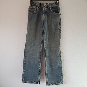 LEE Jeans Straight Fit Size 12 Zip Up Button Front